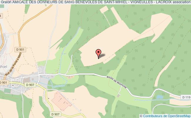 plan association Amicale Des Donneurs De Sang Benevoles De Saint-mihiel - Vigneulles - Lacroix