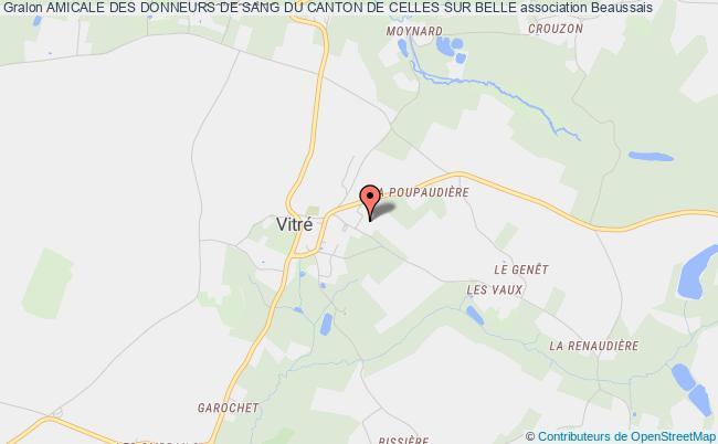 plan association Amicale Des Donneurs De Sang Du Canton De Celles Sur Belle