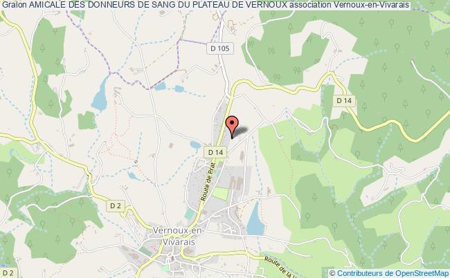 plan association Amicale Des Donneurs De Sang Du Plateau De Vernoux