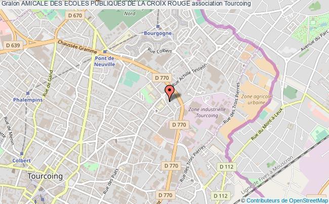 plan association Amicale Des Ecoles Publiques De La Croix Rouge