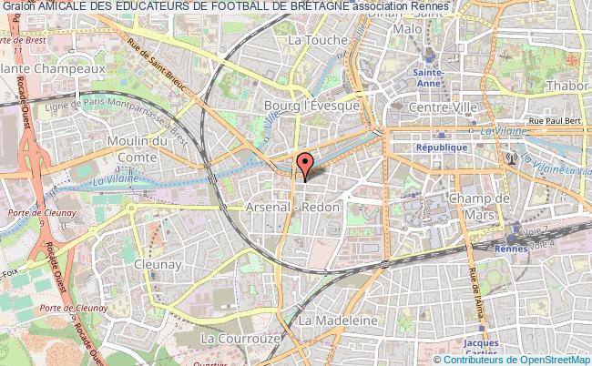 plan association Amicale Des Educateurs De Football De Bretagne