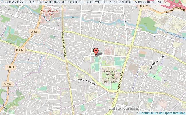 plan association Amicale Des Educateurs De Football Des Pyrenees-atlantiques