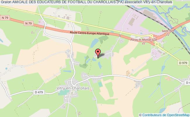 plan association Amicale Des Educateurs De Football Du Charollais (pa) Vitry-en-Charollais