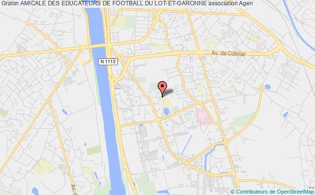 plan association Amicale Des Educateurs De Football Du Lot-et-garonne
