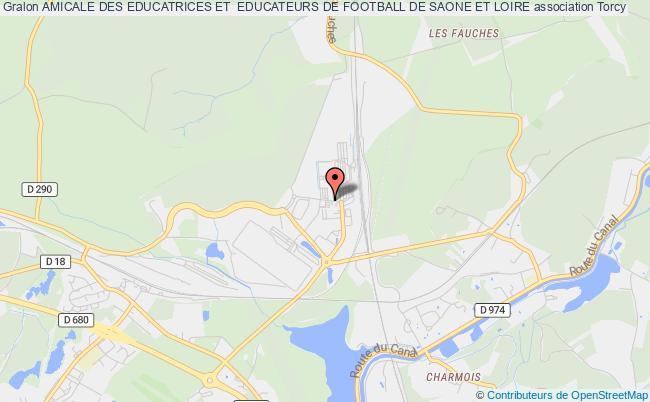 plan association Amicale Des Educatrices Et  Educateurs De Football De Saone Et Loire