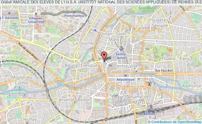 plan association Amicale Des Eleves De L'i.n.s.a. (institut National Des Sciences Appliquees) De Rennes (a.e.i.r)