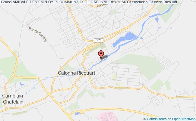 plan association Amicale Des Employes Communaux De Calonne-ricouart