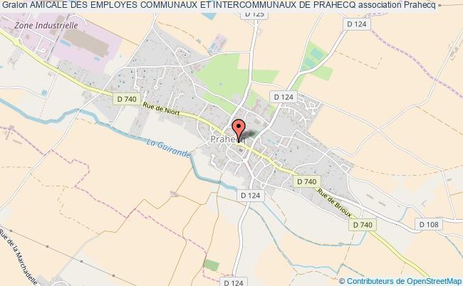 plan association Amicale Des Employes Communaux Et Intercommunaux De Prahecq