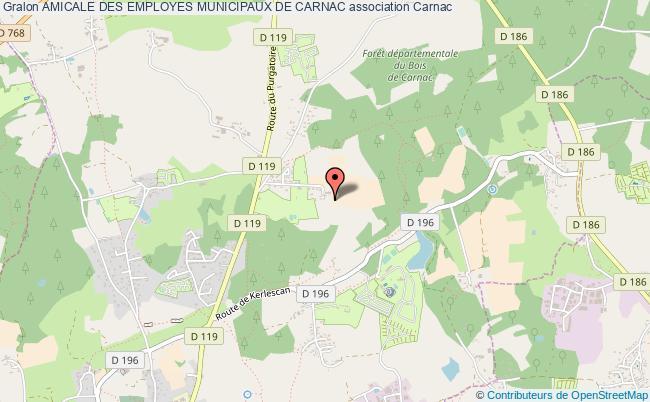 plan association Amicale Des Employes Municipaux De Carnac