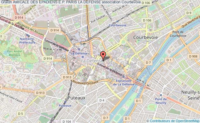 plan association Amicale Des Epadiens E.p. Paris La Defense Courbevoie