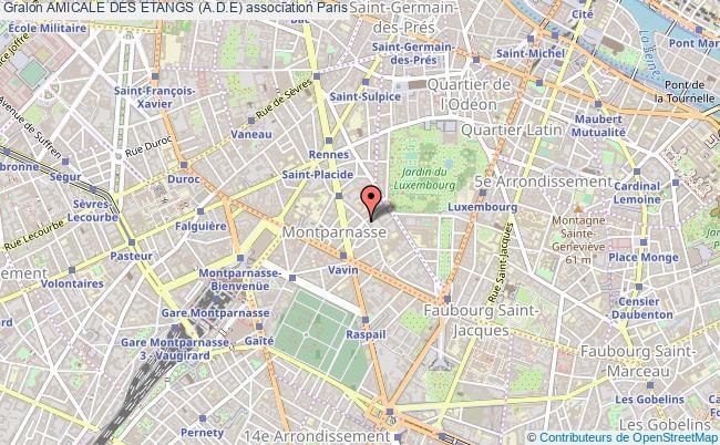 plan association Amicale Des Etangs (a.d.e)