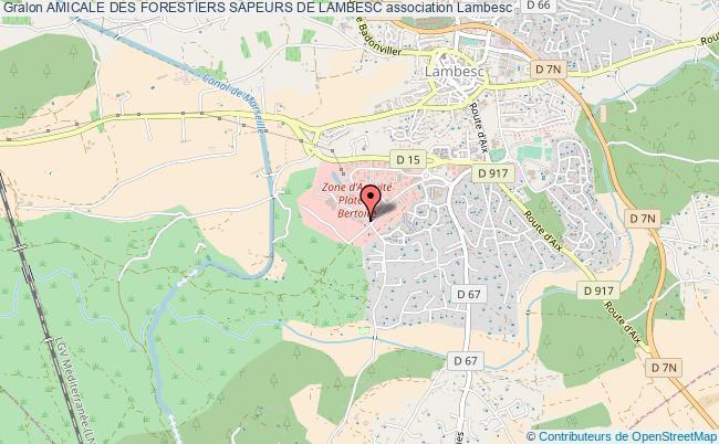 plan association Amicale Des Forestiers Sapeurs De Lambesc