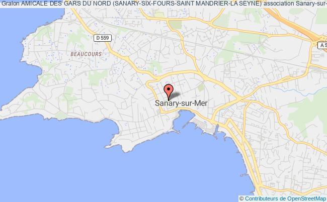 plan association Amicale Des Gars Du Nord (sanary-six-fours-saint Mandrier-la Seyne)