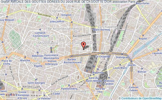 plan association Amicale Des Gouttes Dorees Du 20/26 Rue De La Goutte D'or