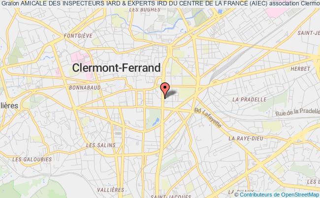 plan association Amicale Des Inspecteurs Iard & Experts Ird Du Centre De La France (aiec)