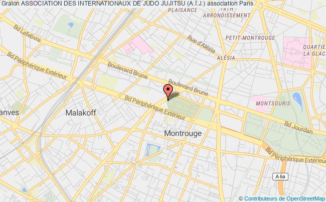 plan association Amicale Des Internationaux De Judo Jutjitsu A.i.j Paris