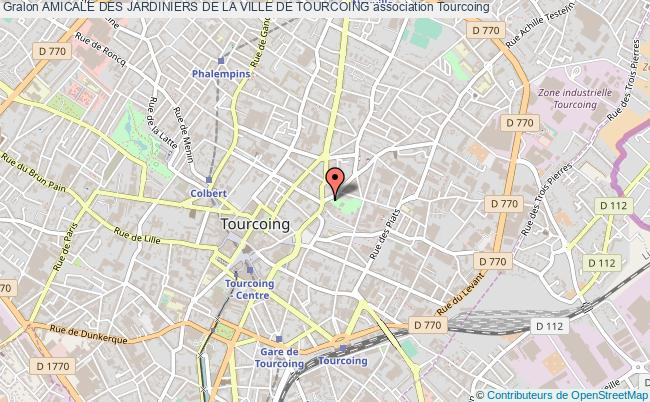 plan association Amicale Des Jardiniers De La Ville De Tourcoing Tourcoing