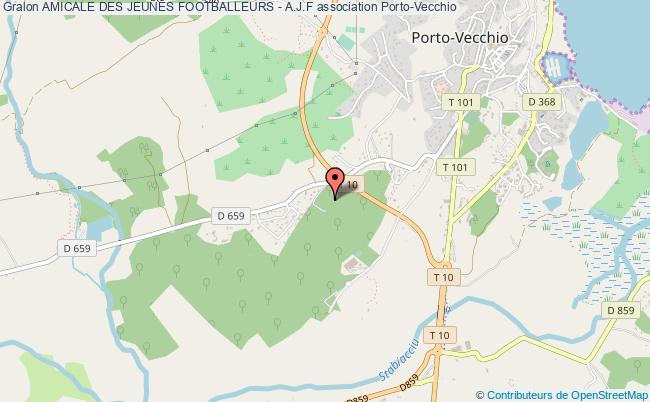 plan association Amicale Des Jeunes Footballeurs - A.j.f