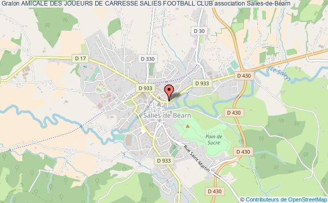 plan association Amicale Des Joueurs De Carresse Salies Football Club