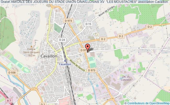 """plan association Amicale Des Joueurs Du Stade Union Cavaillonais Xv  """"les Moustaches"""""""