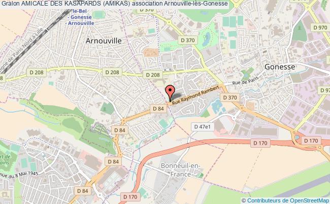 plan association Amicale Des Kasapards (amikas) Arnouville