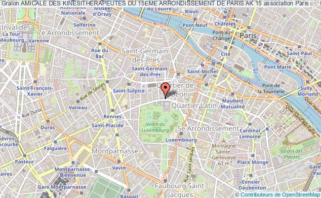 plan association Amicale Des Kinesitherapeutes Du 15eme Arrondissement De Paris Ak 15 Paris