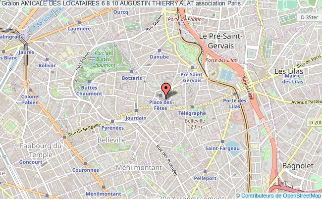 plan association Amicale Des Locataires 6 8 10 Augustin Thierry Alat