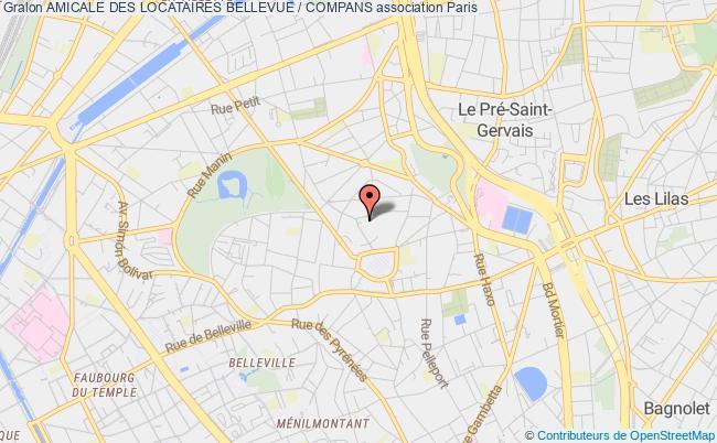 plan association Amicale Des Locataires Bellevue / Compans