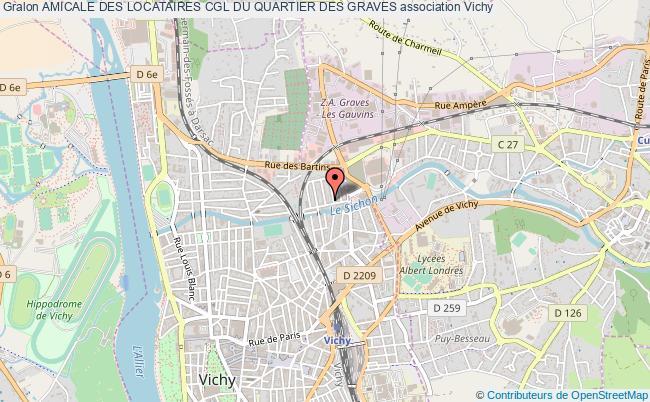 plan association Amicale Des Locataires Cgl Du Quartier Des Graves