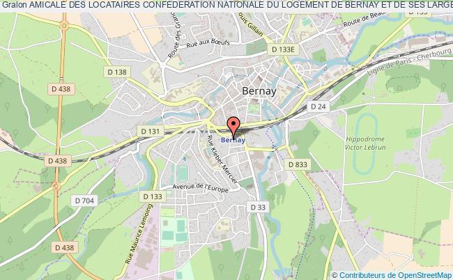 plan association Amicale Des Locataires Confederation Nationale Du Logement De Bernay Et De Ses Larges Environs