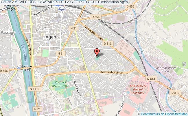 plan association Amicale Des Locataires De La Cite Rodrigues