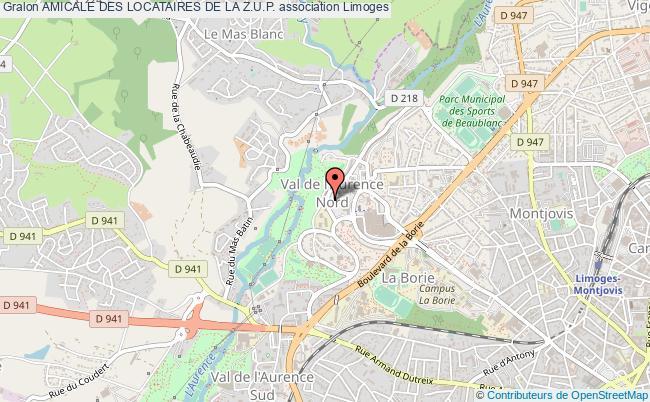 plan association Amicale Des Locataires De La Z.u.p.