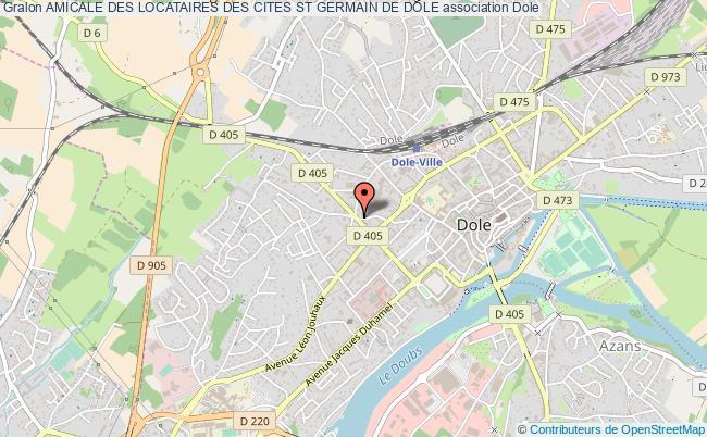 plan association Amicale Des Locataires Des Cites St Germain De Dole Dole