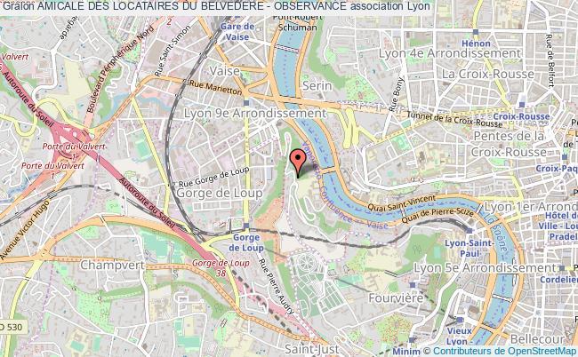 plan association Amicale Des Locataires Du Belvedere - Observance