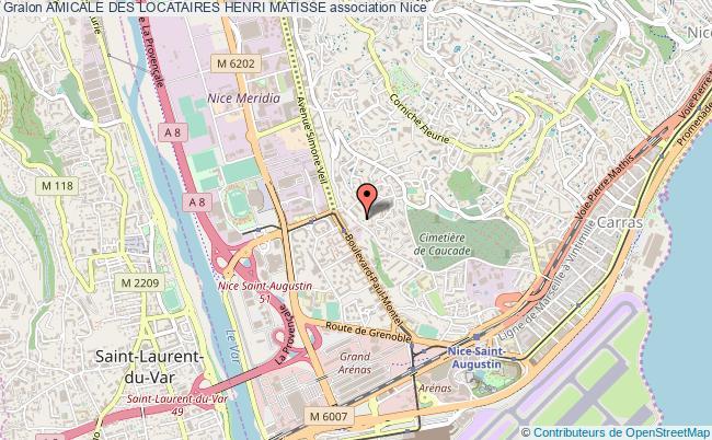 plan association Amicale Des Locataires Henri Matisse Nice