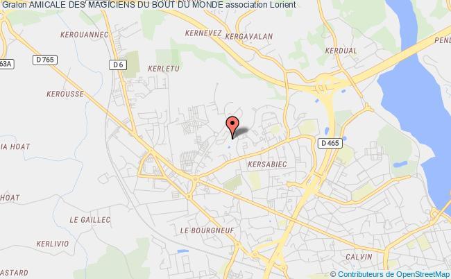 plan association Amicale Des Magiciens Du Bout Du Monde