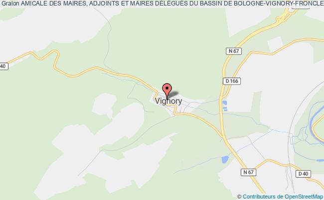 plan association Amicale Des Maires, Adjoints Et Maires DÉlÉguÉs Du Bassin De Bologne-vignory-froncles