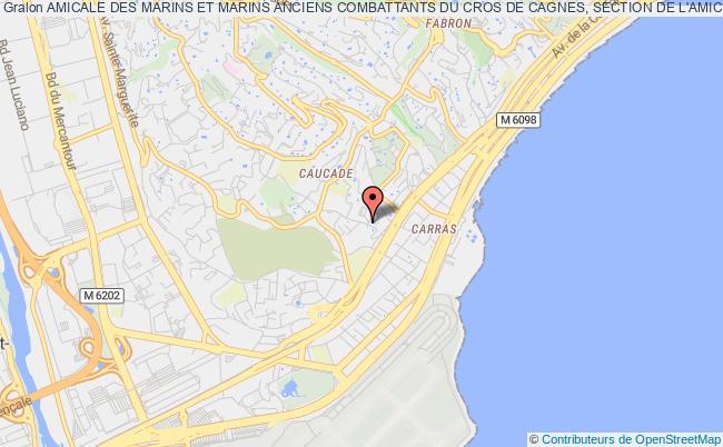plan association Amicale Des Marins Et Marins Anciens Combattants Du Cros De Cagnes, Section De L'amicale Des Marins Et Marins Anciens Combattants De Nice Nice