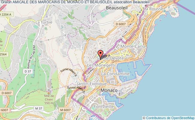 plan association Amicale Des Marocains De Monaco Et Beausoleil