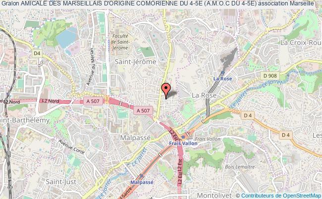 plan association Amicale Des Marseillais D'origine Comorienne Du 4-5e (a.m.o.c Du 4-5e)