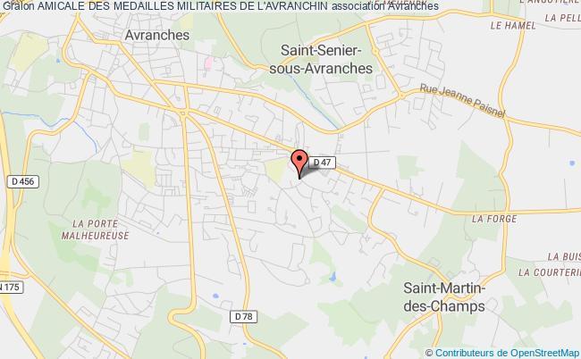 plan association Amicale Des Medailles Militaires De L'avranchin
