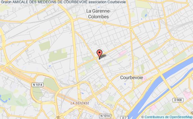 plan association Amicale Des Medecins De Courbevoie Courbevoie