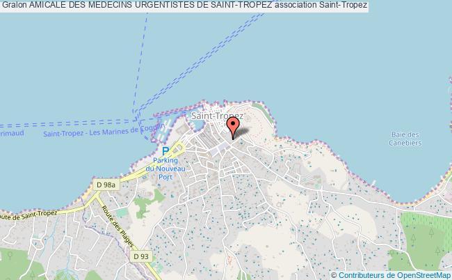 plan association Amicale Des Medecins Urgentistes De Saint-tropez