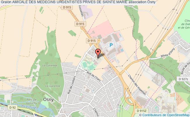 plan association Amicale Des Medecins Urgentistes Prives De Sainte Marie Osny