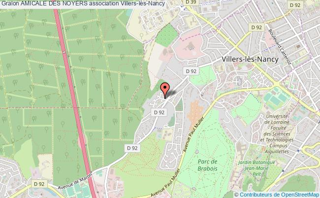 plan association Amicale Des Noyers