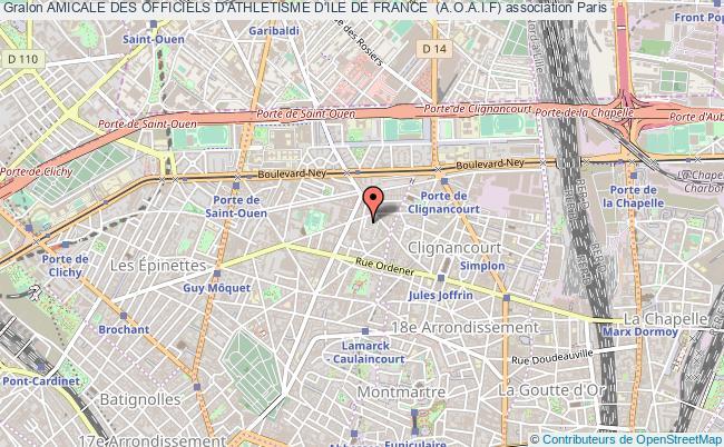 plan association Amicale Des Officiels D'athletisme D'ile De France  (a.o.a.i.f)