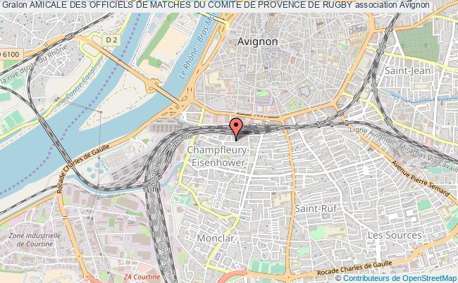 plan association Amicale Des Officiels De Matches Du Comite De Provence De Rugby