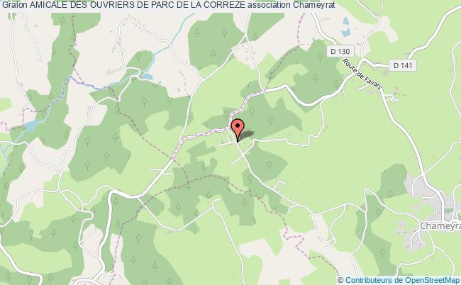 plan association Amicale Des Ouvriers De Parc De La Correze Chameyrat
