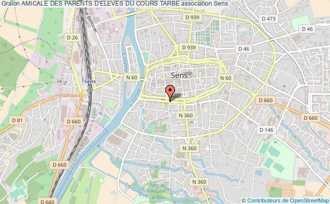 plan association Amicale Des Parents D'eleves Du Cours Tarbe Sens