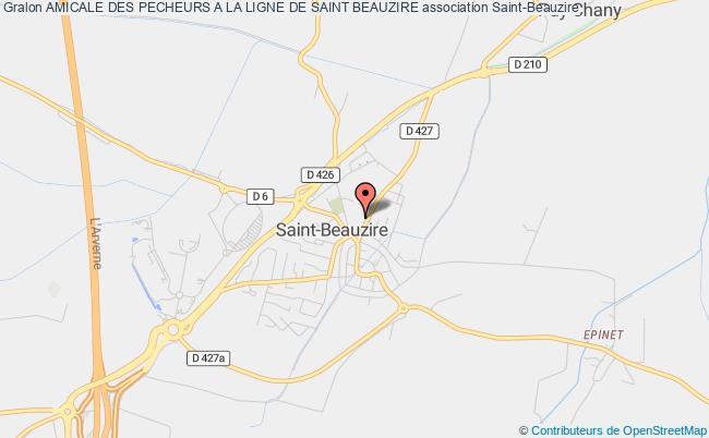 plan association Amicale Des Pecheurs A La Ligne De Saint Beauzire